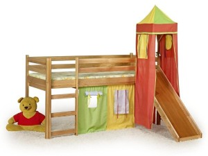 Säng med rutschbana 1